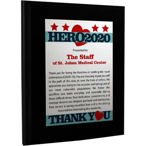 2020 Hero Plaque