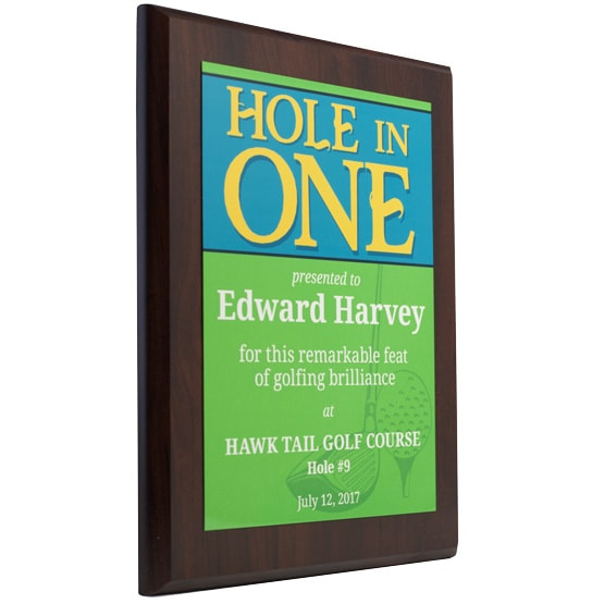 Hole in One Plaques - Golf Pinstripes