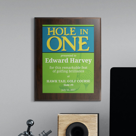 Hole in One Plaques - Golf Pinstrip