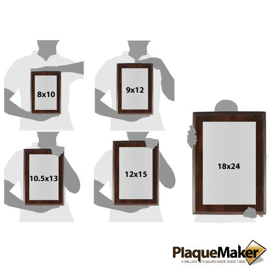 Newspaper Plaques Size Chart