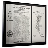 Boardroom Patent Plaque