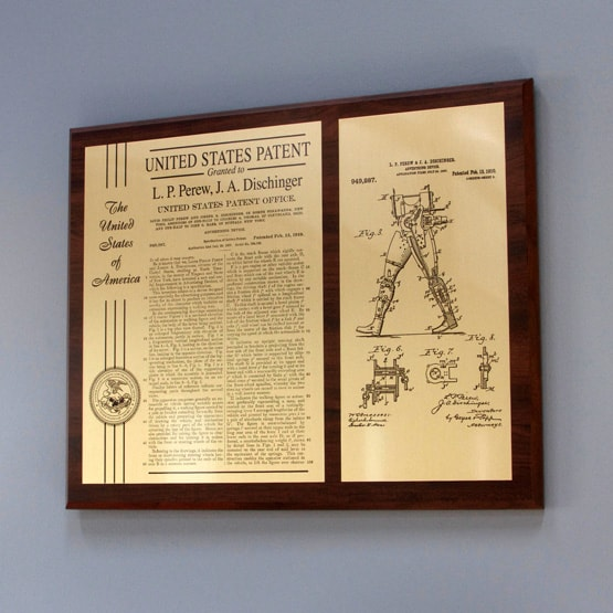 Personalized Boardroom Patent Plaques