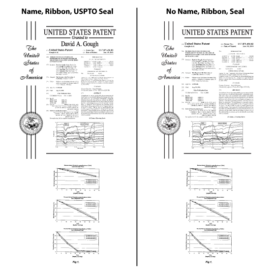 Boardroom Patent Plaque Size Guide