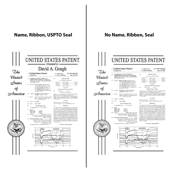 Ships Today: Patent Plaque Size