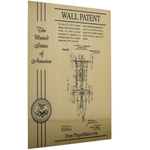 custom patent award wall plate