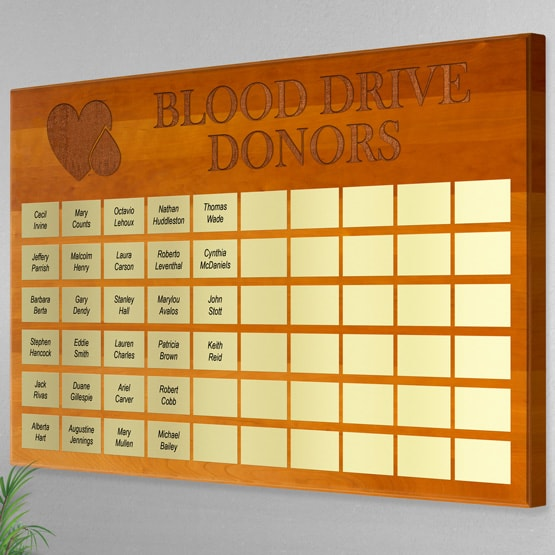 Solid Cherry Lobby Perpetual Plaque