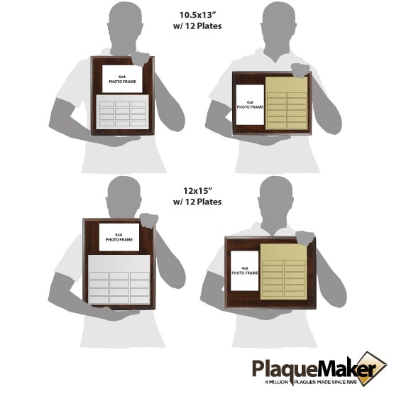 Perpetual Plaques with Photo Frame Size Guide
