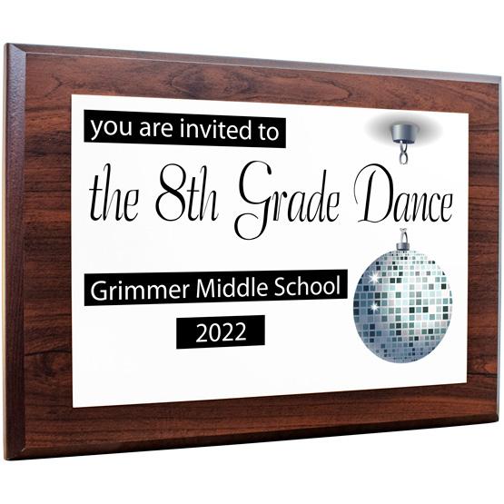 8th Grade Dance Invitational Plaque