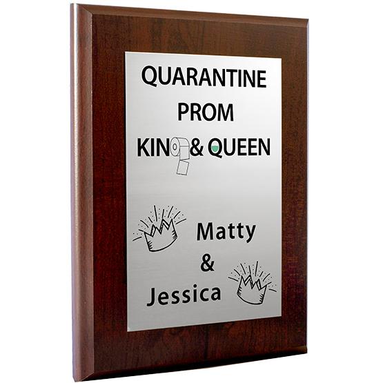 Quarantine Prom King & Queen Plaque