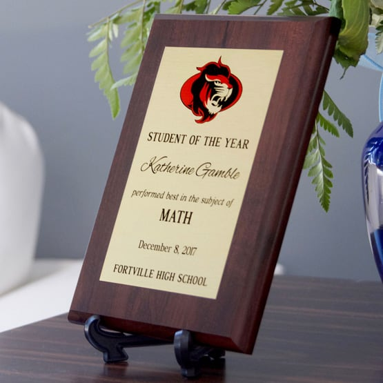 Student of the Year Award Plaque