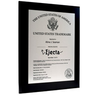 trademark award plaque metal plates