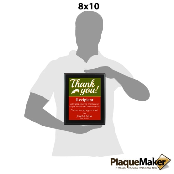 Thank You Plaque -Style 1
