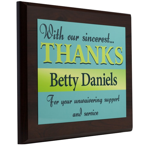 sponsor thank you plaque wording appreciation plaques from