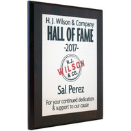 wall of fame plaque sublimated