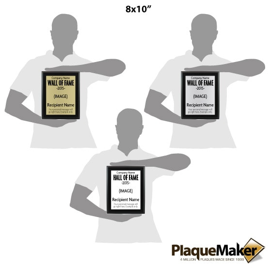 Aluminum Wall of Fame Plaques Sizes