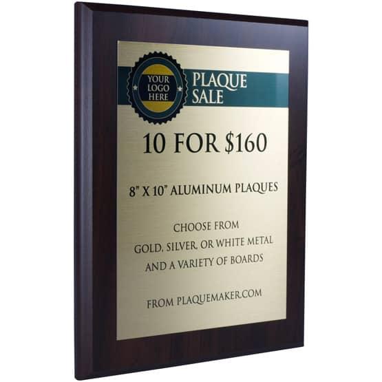 """8""""x10"""" Aluminum Plaque Sale"""