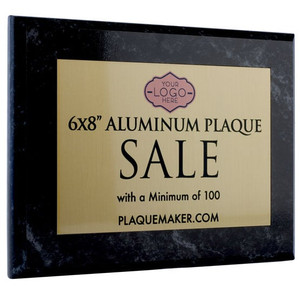6x8 aluminum plaque sale