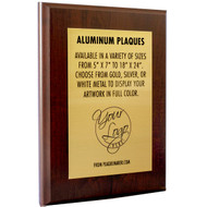 Color Printed Aluminum Metal Award