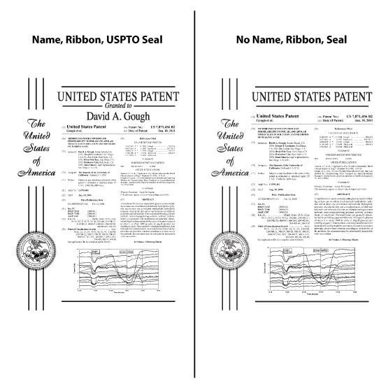 Glass Patent Plaques Black Design