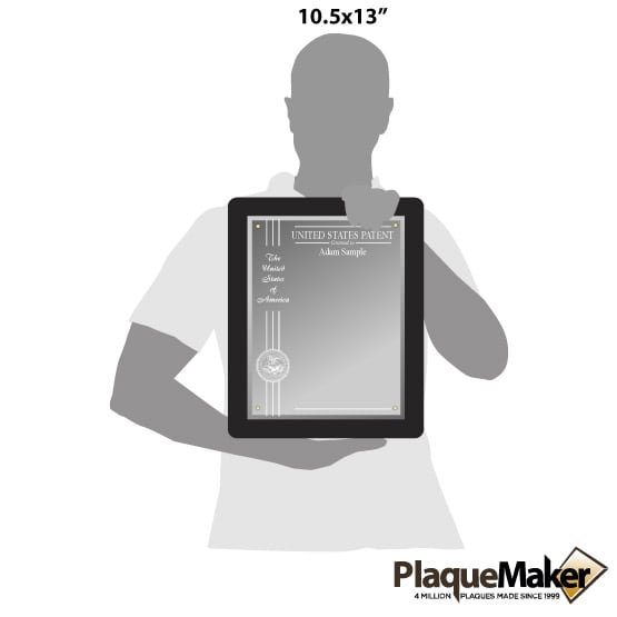 Glass Patent Plaques Black Size