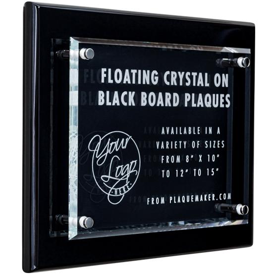 Crystal Plaque Award on Black Piano