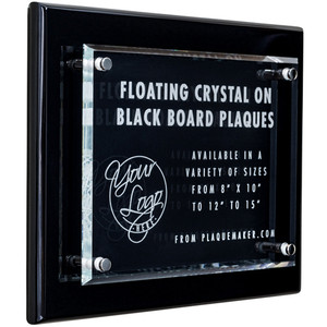 Crystal Plaque Award on Black Piano