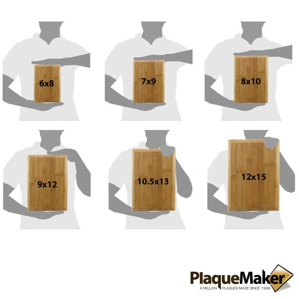 Bamboo Plaque Size Chart
