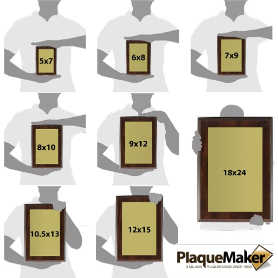 Brass Plaques Size Guide