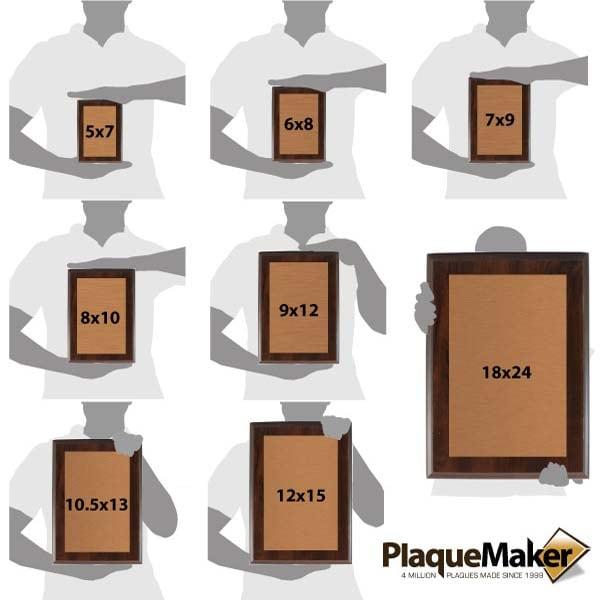 Copper Plaques Size Chart