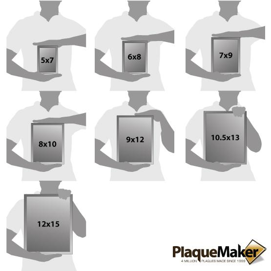 Glass Plaques Size Chart