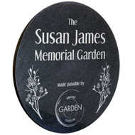 Black Granite Circle Plaque