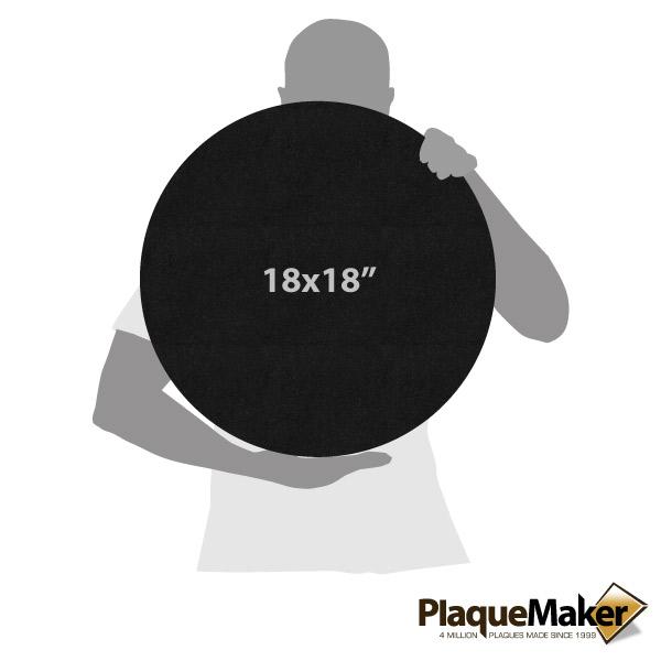 Black Granite Circle Plaque Sizes