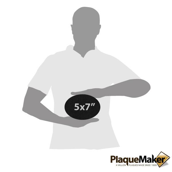 Black Granite Oval Plaque Size Guid