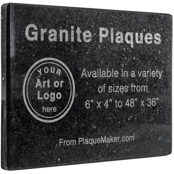Product Video Black Granite Plaque