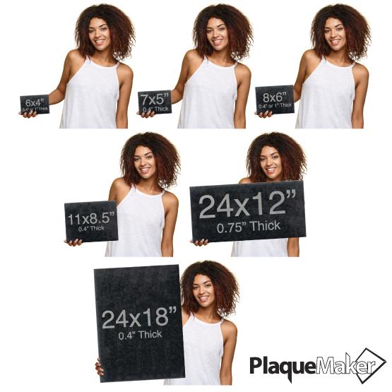Granite Plaques Size Guide