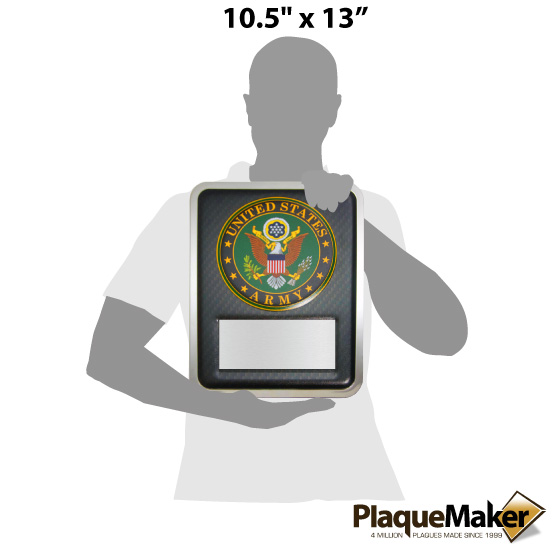 Army Hero Plaque Size Chart