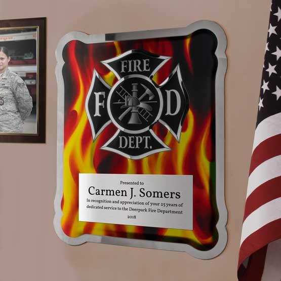 Firefighter Hero Plaque