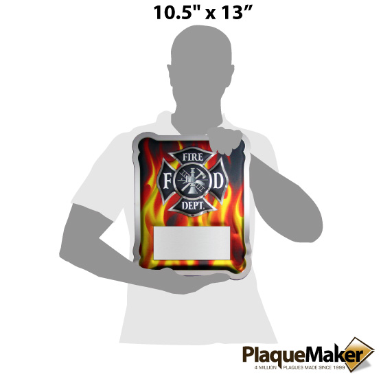 Firefighter Hero Plaque Size Chart