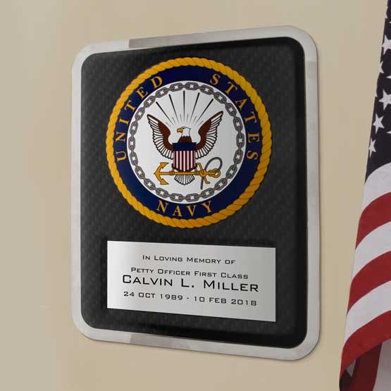 Hero Navy Plaque