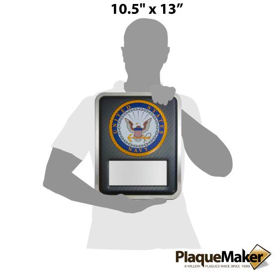 Navy Hero Plaque Size Chart