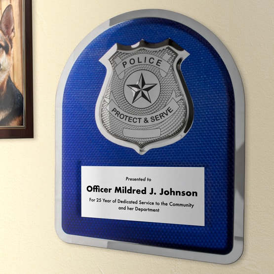 Police Hero Plaque