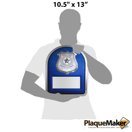 Police Hero Plaque Size Chart