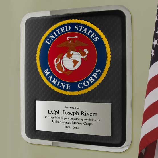 Hero Marine Corps Plaque