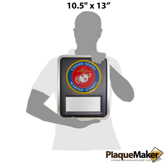 Marine Hero Plaque Size Chart