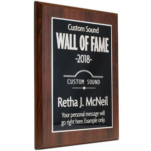 Laser Metal Wall of Fame Plaque