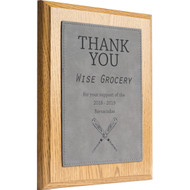 Faux Leather Gray Plate Plaques