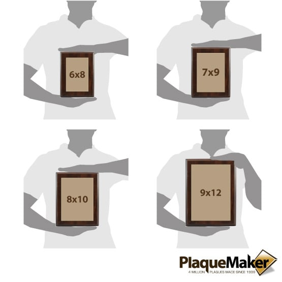 Light Brown Leatherette Plate Size Guide