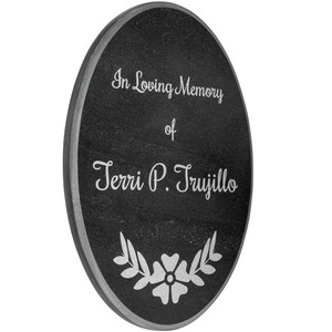 Oval Marble Memorial Plaque