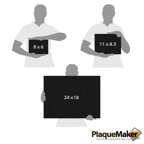 Marble Plaques Size Chart