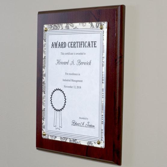 Pressed Wood Certificate Holder